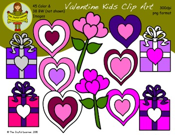 Clip Art: Valentine Kids - Huge Set!