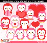Valentine's Day Penguins Clip Art