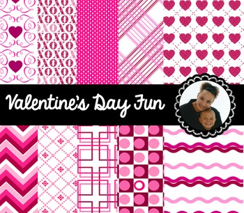Clip Art~ Valentine's Day Digital Papers