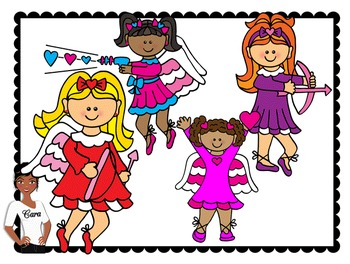 Clip Art~ Valentine's Day Kids