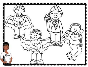 Clip Art~ Valentine's Day Kids 2