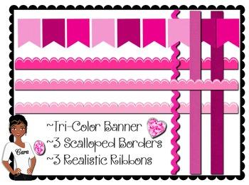 Clip Art~ Valentine's Day Pinks Teacher Design Kit