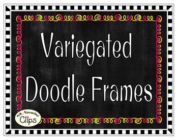 Clip Art - Variegated Doodle Frames