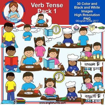 Clip Art - Verb Tense Bundle