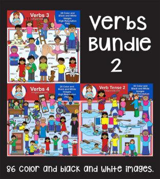 Clip Art - Verbs Bundle 2