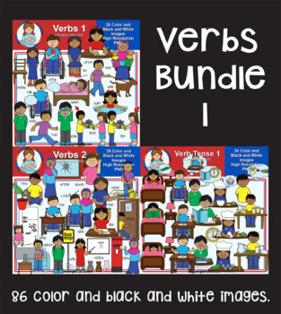 Clip Art - Verbs Bundle 1