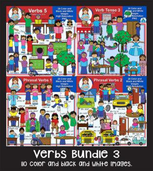Clip Art - Verbs Bundle 3