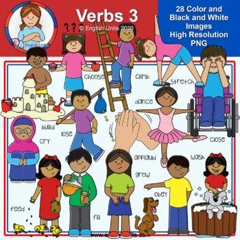 Clip Art - Verbs Pack 3