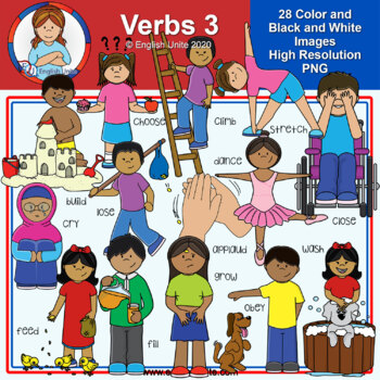 Clip Art - Verbs Pack 3 (Not included in the bundle)