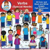 Clip Art - Verbs - Special Needs (Mystery Box Apr 2021)