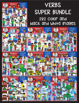 Clip Art - Verbs Super Bundle