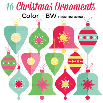 vintage christmas ornaments clipart christmas clip art - Vintage Christmas Ornaments