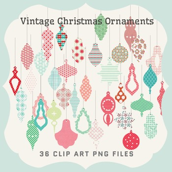 Clip Art: Vintage Christmas Ornaments