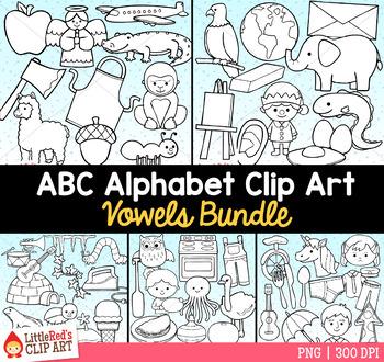 Vowels Clip Art Bundle