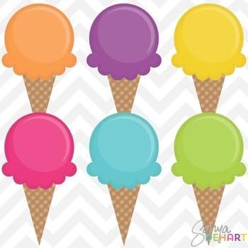 Clipart - Waffle Cone Ice Cream