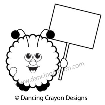warm fuzzy with blank sign warm fuzzies clipart set by dancing rh teacherspayteachers com blank sign clipart blank wooden sign clipart