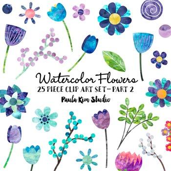 Clip Art - Watercolor Flowers - Part 2