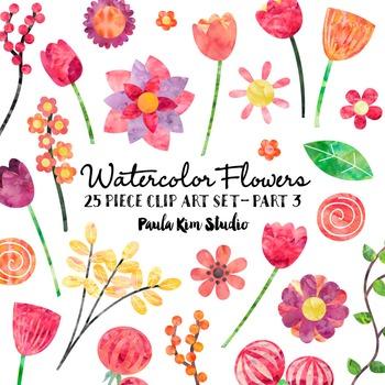 Clip Art - Watercolor Flowers - Part 3