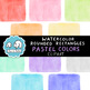 Clip Art: Watercolor Rounded Rectangles - Pastel Colors