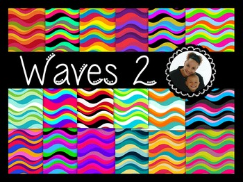 Clip Art~ Waves II Digital Paper Collection