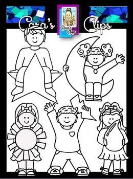 Clip Art~ Weather Kids