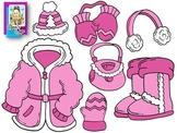 Clip Art~ Winter Clothing