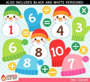 Winter Math Clipart