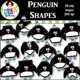 Clip Art ● Winter Penguin Shapes ● 2D Shapes ● Products for TpT Sellers