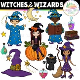 Clip Art: Witches and Wizards