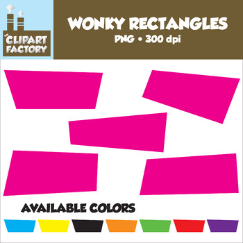 Clip Art: Wonky Rectangles - Assorted Stretched Rectangular Shapes