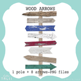 Clip Art: Wood Arrows