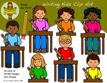 Clip Art: Writing Kids