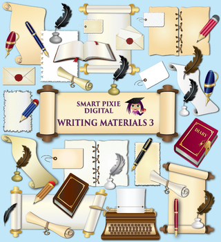 Clip Art- Writing Materials 3