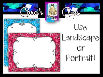 Clip Art~  Yee Haw!  Bandana Print Ready-Made Product Covers & Task Cards