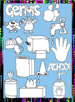 Clip Art~ Yuck!  Germs!