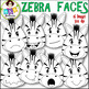 Clip Art ● Zebra Faces ● Products for TpT sellers