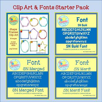 Clip Art and Fonts Starter Pack