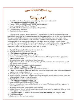 Clip Art and Word Art MS Word
