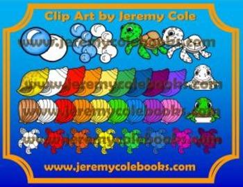 Clip Art by Jeremy Cole - Sea Turtle Adventures Volume 1