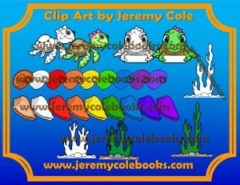 Clip Art by Jeremy Cole - Sea Turtle Adventures Volume 1