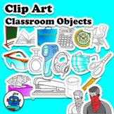 Clip Art for Classroom Objects - COVID-19 Corona Class Vocabulary