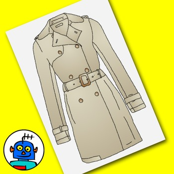Clip Art for Clothing and Accessories - Color and b/w png files.