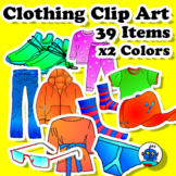 Clothing Clip Art - Color, b/w, png and jpeg files. Swimsuit, boots, pants