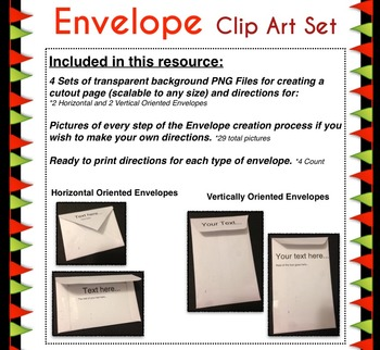 Clip Art for DIY Envelopes Great for Interactive Notebooks *Includes Directions!