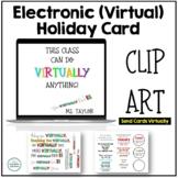 Clip Art for Electronic Virtual Christmas Holiday Cards - Make a Virtual e-card