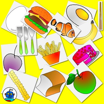 Clip Art for Food - Color and b/w png files.
