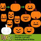Clip Art for Halloween Activities / DIY Halloween Pumpkins Jack O Lantern