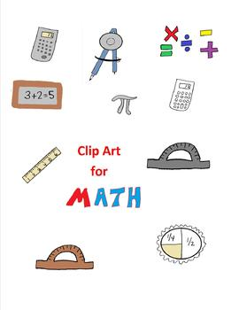 Clip Art for Math for Personal and Commercial Use