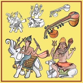 Gods in India Clip Art