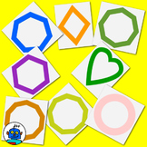 Clip Art for Shapes - Color and b/w png files.